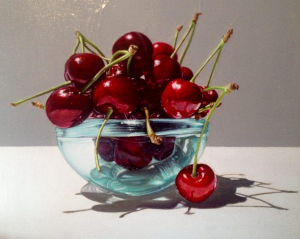 ciliegie-olio-su-tela-tecnica-iperrealista-cm-40×40-1024×816